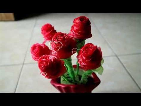 Teh Kuncup Bunga Mawar vas bunga dari botol bekas doovi