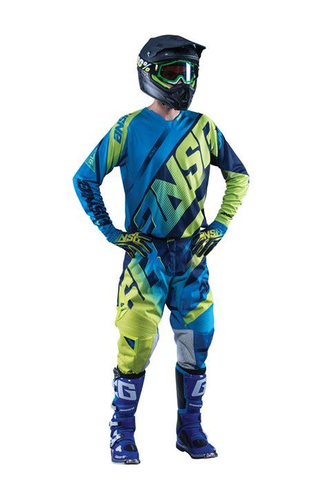 answer motocross gear answer new 2016 mx alpha ansr jersey pants navy cyan blue
