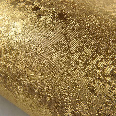 wallpaper gold embossed gold foil wallpaper brief plain solid color gold foil
