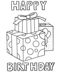 happy birthday coloring page happy birthday 4 coloring pages
