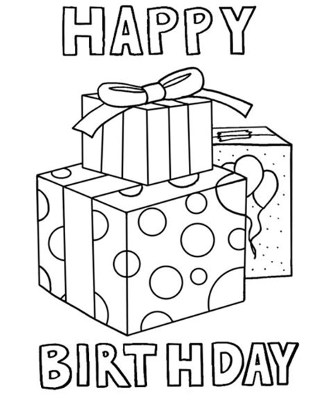 Happy Birthday 4 Coloring Pages Happy Birthday Color Pages