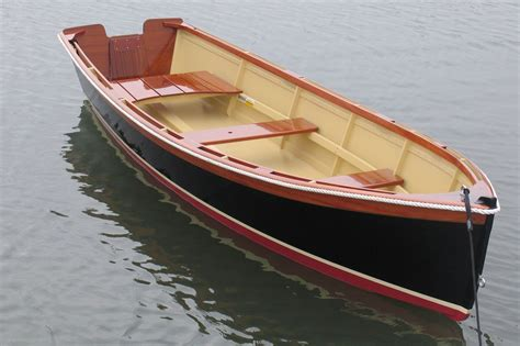 boat made of wood custom 14 outboard skiff atkins design by budsin wood