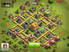 coc strong base structures for lvl6 townhall clash of clans best lvl 6 town hall attacked 1 youtube