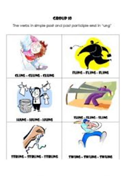 swing irregular verb english worksheet irregular verbs group 10