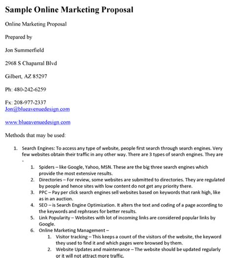 doc 585669 marketing proposal template 15 free sle