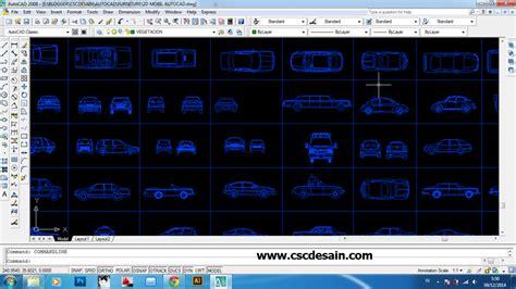 format gambar autocad download gambar 2d mobil autocad