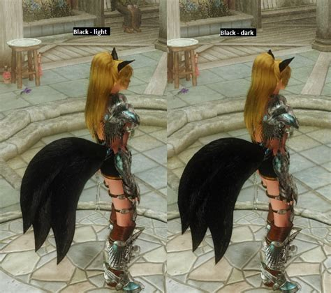 skyrim hdt wearable hdt tails wearable foxtails recolor at skyrim nexus