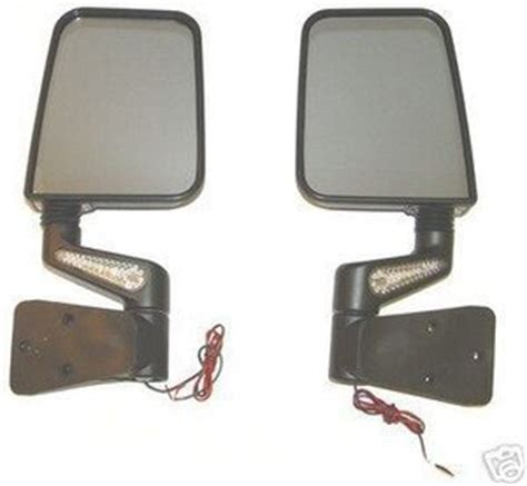 Jeep Doors Mirrors Jeep Yj Tj Wrangler New Led Mirror Kit Black