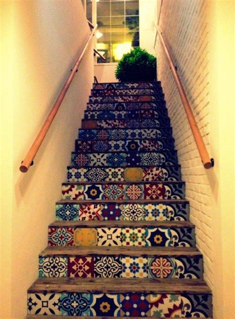 Moroccan Patchwork Tiles - 25 best ideas about tile stairs on stairway