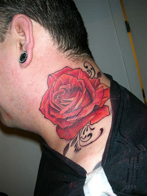 rose tattoo for men neck tattoos for designs ideas and meanings tattoos