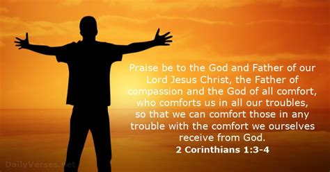 trust in the god of all comfort 2 corinthians 1 3 4 bible verse of the day dailyverses net