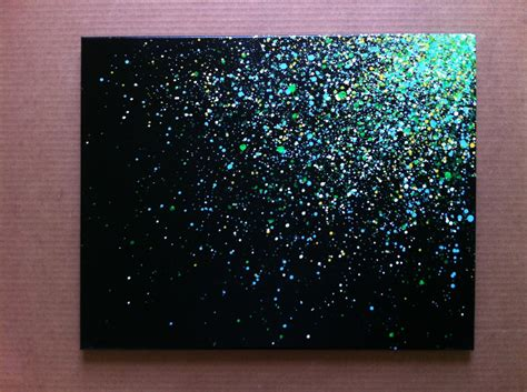 how to spray paint on canvas 16x20 paint splatter canvas
