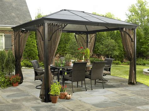 hard top gazebo sumatra 10 x12 with mosquito netting ebay
