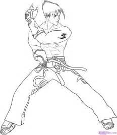 How To Draw Jin Kazama From Tekken Step 8 sketch template