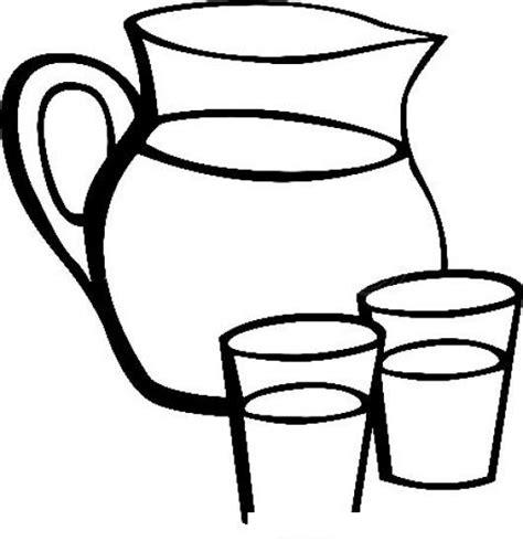 imagenes para colorear jarra dibujo de pichel con dos vasos de agua para pintar y