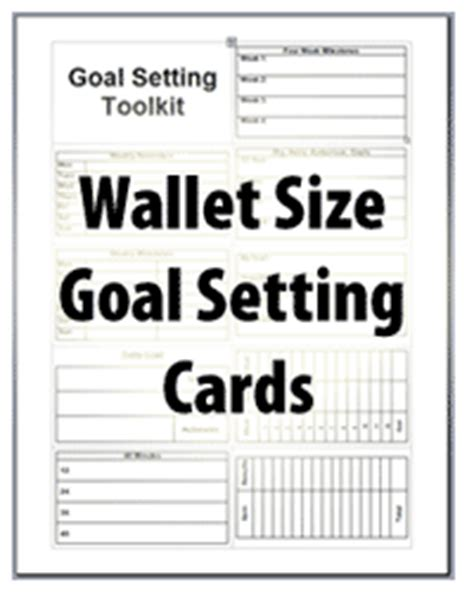 goal card template goal setting toolkit visualize your goals personal
