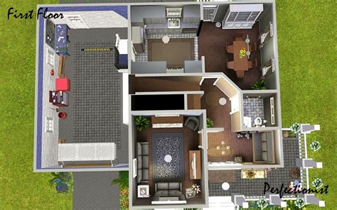 sims 3 4 bedroom house design