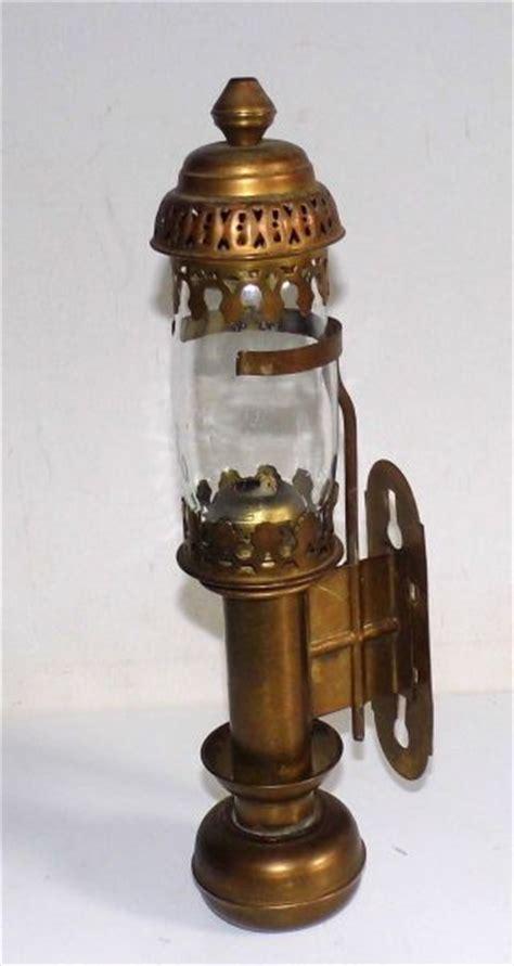 kerzenhalter mit glaszylinder metallobjekte messing gefertigt nach 1945 leuchter