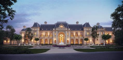 Stunning Chateau Design From Cg Rendering Homes