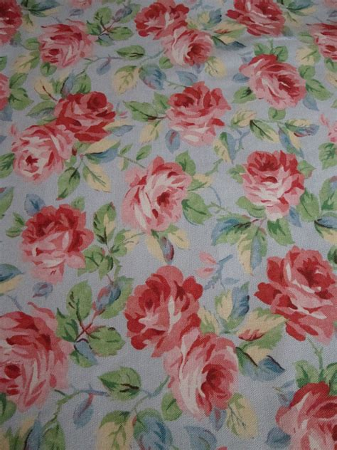 cotton upholstery fabric shabby chic roses roses roses