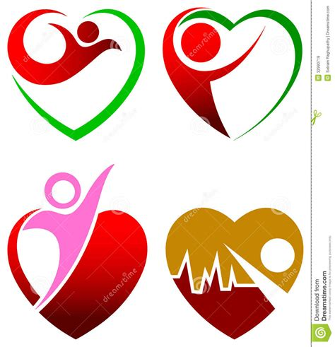 heart pattern logo heart care royalty free stock images image 32990719