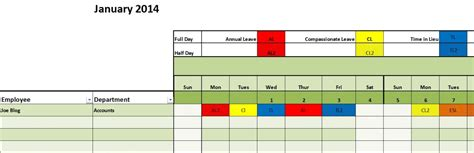staff leave template 2015 annual leave planner excel template staff calendar