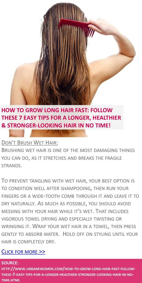 7 And Easy Hair Tips by How To Grow Hair Fast Follow These 7 Easy Tips For A
