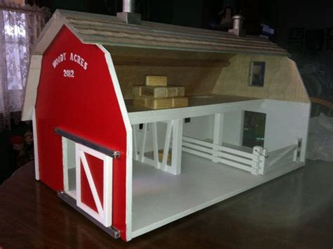 childrens toy wooden barn     build  toy