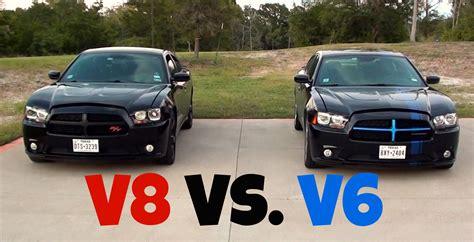 charger rt vs srt dodge charger r t vs dodge charger sxt v8 vs v6 racing