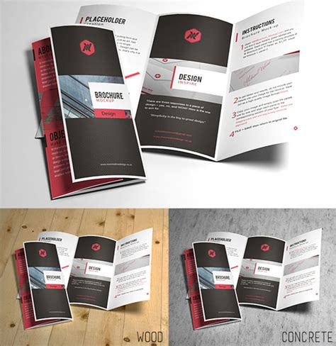 3 fold brochure template psd 20 awesome free premium mockup psd files design