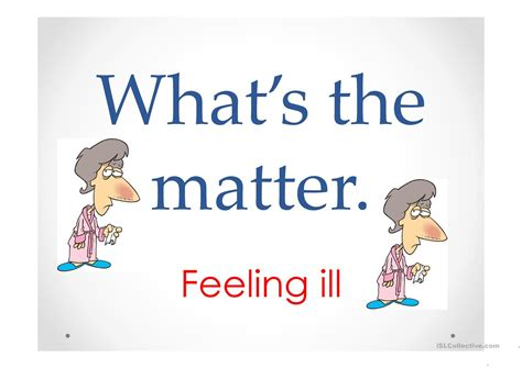 what s the matter illnesses what s the matter worksheet free esl