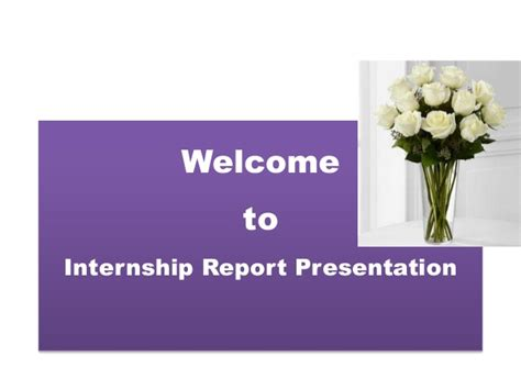 Mba Summer Internship Presentation Ppt by Internship Report