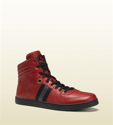 hightop shoes for lyst gucci s high top sneaker from viaggio