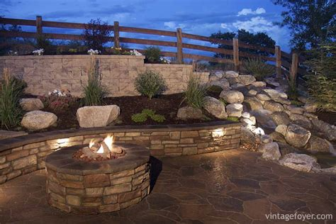 pit retaining wall 30 ideas for your backyard pit design