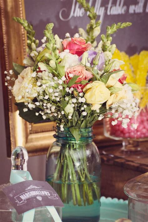 country centerpieces vintage wedding ideas