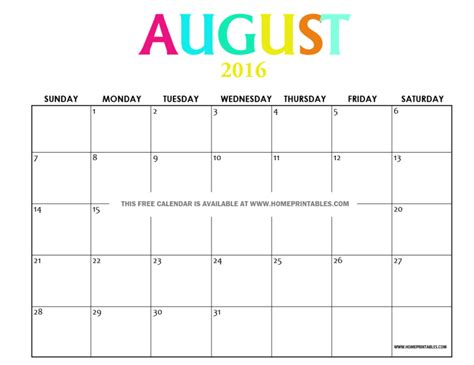 printable calendar 2016 august get your free printable august 2016 calendar home