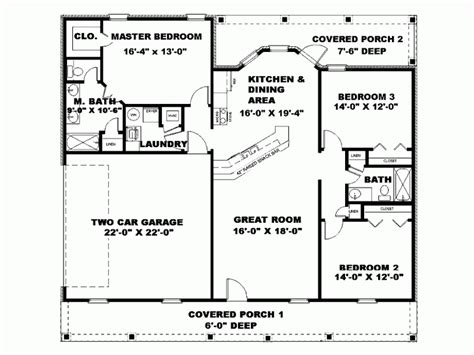 1500 square feet house plans ranch home plans under 1500 square feet caroldoey