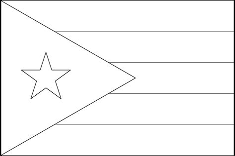 puerto rico flag coloring page az coloring pages
