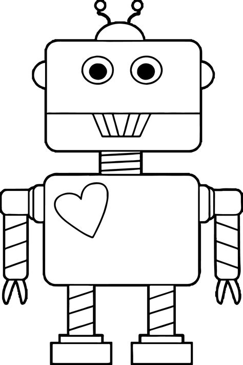 coloring pages for robot robot heart coloring page wecoloringpage
