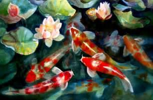 Koi Lotus Koi Fish Pond Wallpaper