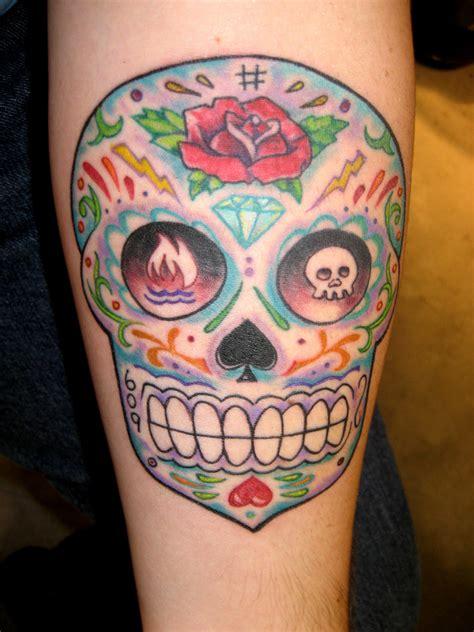 candy skull tattoo dia de los muertos tattoos majestic nyc