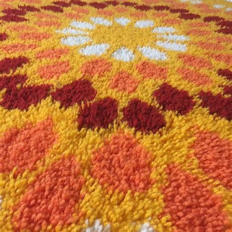 flower power rug vintage pop rug flower power 1970s modernist mid century for sale at 1stdibs