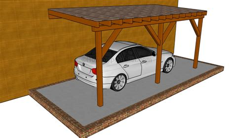attached carport plans carport designs howtospecialist how to build step by step diy plans