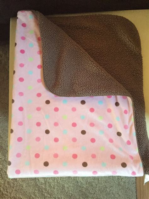 Pink And Brown Baby Blanket by Just Born Pink Brown Minky Sherpa Pastel Polka Dot Baby