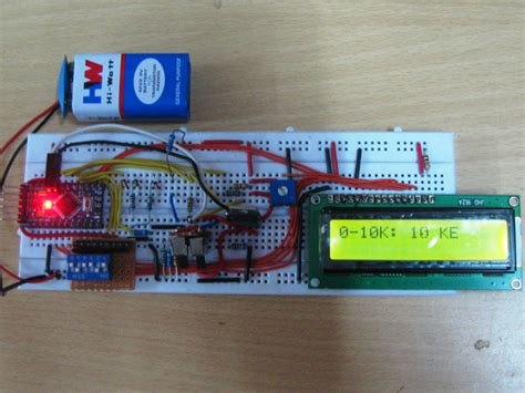 diy arduino based ohmmeter project with circuit diagram