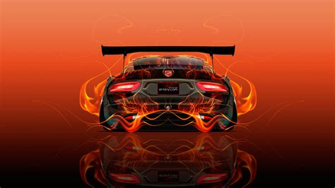 Tony Cars by Dodge Viper Tuning Back Abstract Car 2015 Wallpapers
