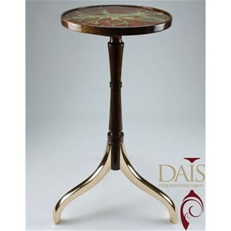 Dais Table by Masterpiece Dais Wine Table Bronze Walnut And 24ct Gold