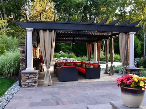 covered patio curtains beautiful pergola for distinct look small patio design abpho