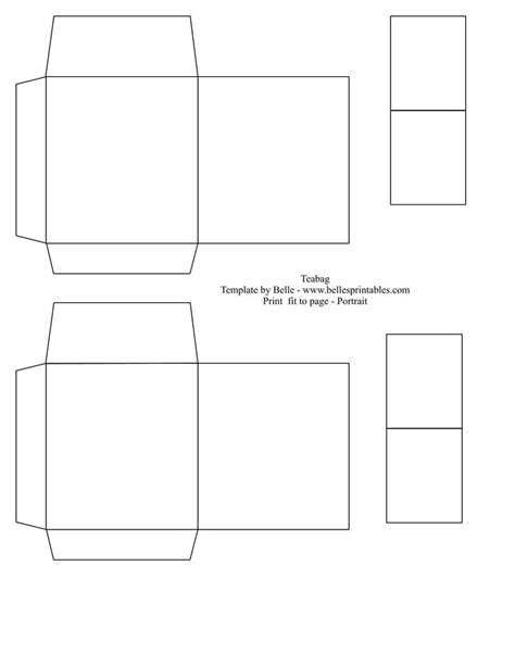 diy favor box template printable teabag gift bag template just decorate it any way you