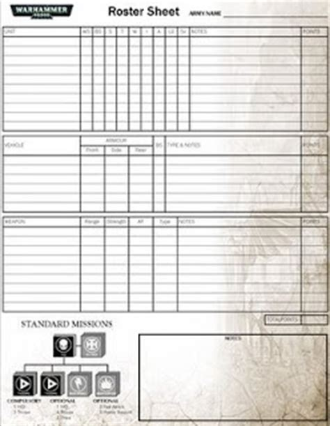 40k army list template pit of the oni warhammer 40 000 roster sheet